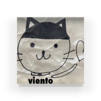 にゃんこす😆西野亮廣エンタメ研究所のviento catぱっつん Acrylic Block