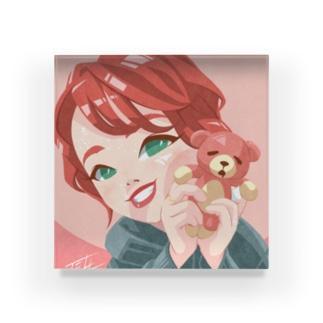 Plush bear Acrylic Block