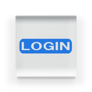 LOGIN ー片面プリント Acrylic Block