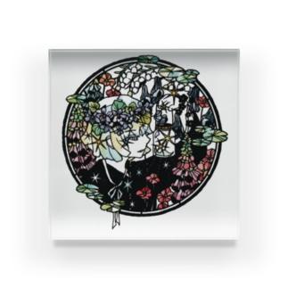 切り絵 / 徒花の幽霊 Acrylic Block