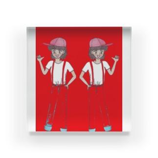 双子姉妹 Acrylic Block