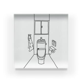 あるトイレの一室 Acrylic Block