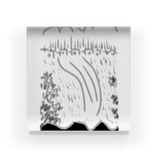 向こう Acrylic Block