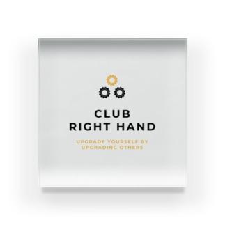 Club Right Handのアイテムたち Acrylic Block