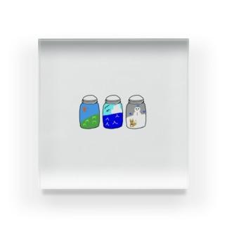 ビンの中の季節 Acrylic Block
