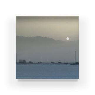 朝霧と満月 Acrylic Block