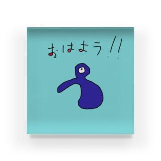 JUSEN SETA 【瀬田純仙】COOL JAPAN おはようキャラ Acrylic Block