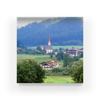 ドイツ:山岳地方の風景写真 Germany: view of a mountain village Acrylic Block
