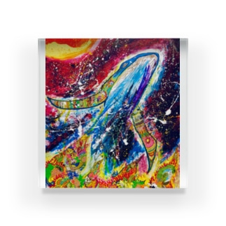 STARDUST WHALE Acrylic Block