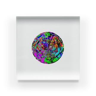 パターン005:crazy sphere Acrylic Block