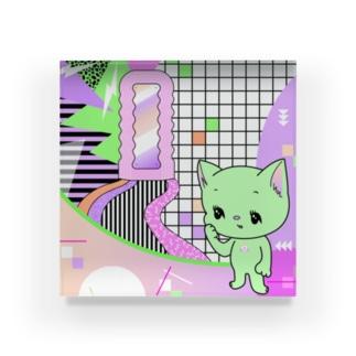 What is cute? メロンクリーム猫さん Acrylic Block