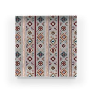 コーカサス絨毯・ストライプ(ホワイト) Acrylic Block