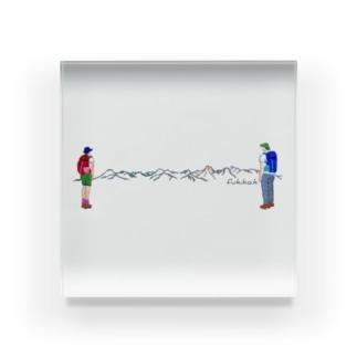 八ヶ岳 手刺繍風 Acrylic Block