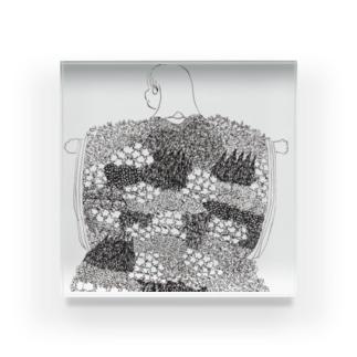春の装い Acrylic Block