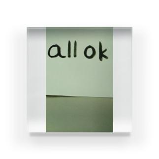 all OK シリーズ、横書き Acrylic Block