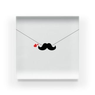 髭のラブレター Acrylic Block