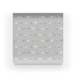 ちみまめオカメインコちゃん【まめるりはことり】 Acrylic Block