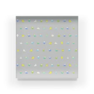 ちみまめセキセイインコちゃん【まめるりはことり】 Acrylic Block