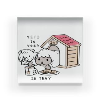CT112 YETI is yeahの家でお茶 Acrylic Block