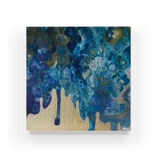 kiyoraの青と金 Acrylic Block