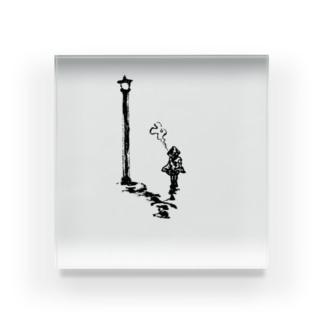 街灯と煙 Acrylic Block