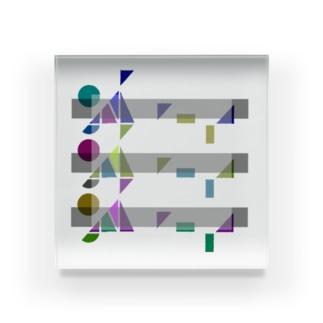 ポップロゴ。(Triple) Acrylic Block