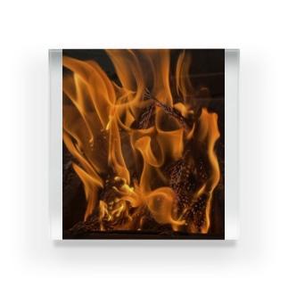 焚き火 Acrylic Block
