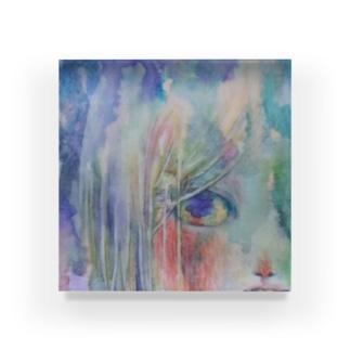 青の火 Acrylic Block