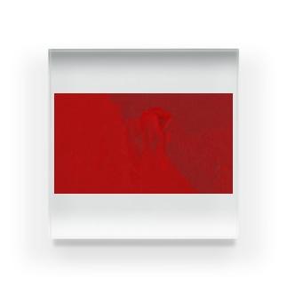 油絵タッチの赤 Acrylic Block