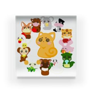 十二支 と ネコ ( 優月のあ ) Acrylic Block