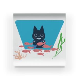おさかなキラキラ Acrylic Block