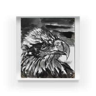 天空を司る鳥の王者【鷲】 Acrylic Block