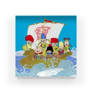 開運⛩めめたん 七福神 Acrylic Block