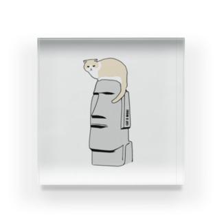 CAT X MOAI Acrylic Block