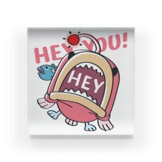 CT117海の底のあんこ姫*HEY YOU!*釣れたかもA* Acrylic Block