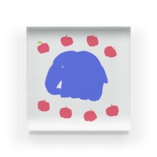 象🐘と林檎🍎  Acrylic Block