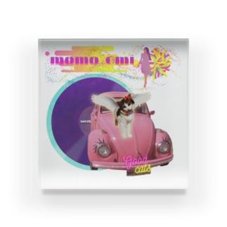 momo_emi ピンクのクルマ レコード Acrylic Block