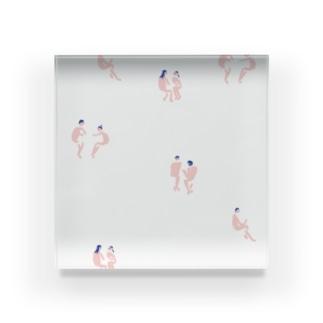 喫茶にいる人たちがもしみんな裸なら Acrylic Block