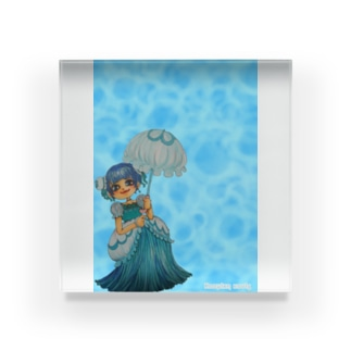 クラゲお嬢・水面 Acrylic Block