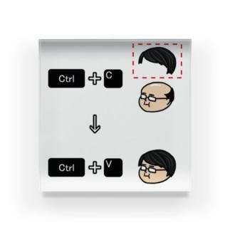 コピー&ペースト Acrylic Block