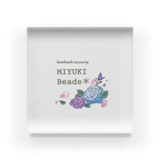 MIYUKI Beads ロゴグッズ Acrylic Block