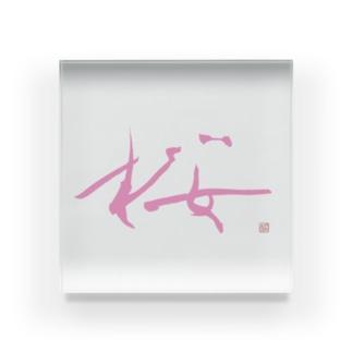 『桜』シリーズ Acrylic Block