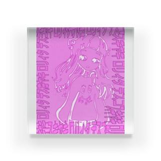 スキヤキロリィタデスコ ショッキングピンク Acrylic Block