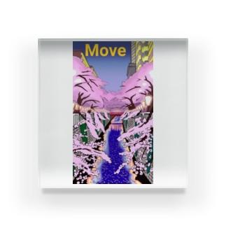 桜 Move  吉田デザイン Acrylic Block