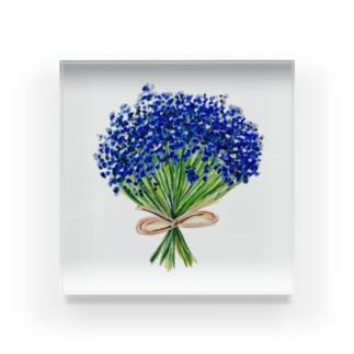 彼氏に渡した青いかすみ草 Acrylic Block