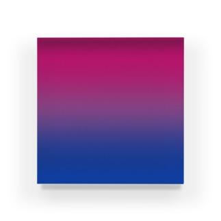 グラデーション プライドフラッグ バイセクシュアル Acrylic Block
