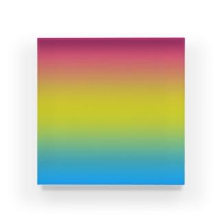 グラデーション プライドフラッグ パンセクシュアル Acrylic Block