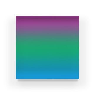 グラデーション プライドフラッグ ポリセクシュアル Acrylic Block
