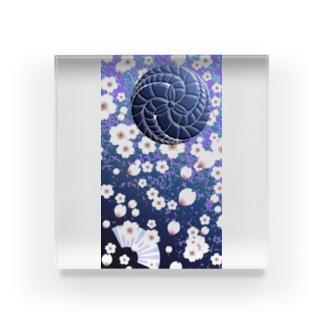 © 2008 akanbeepapaの藤巴と桜 Acrylic Block
