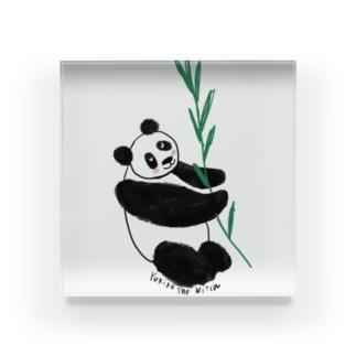 友人はパンダが大好き❤️ Acrylic Block